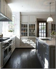 Kitchen #gray #cabinet