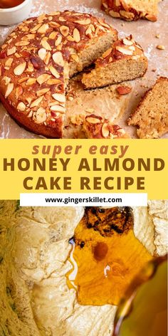 Honey Almond Cake – step-by-step instructions. A perfectly moist and feel-good cake enriched with honey! Bake this once and you'll never think of store-bought almond cakes ever again!      #honeycake #almondcake #honeyalmondcake #cakerecipe #honeycakerecipe
