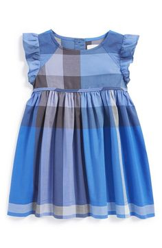 Burberry Flutter Sleeve Dress (Baby Girls) available at #Nordstrom