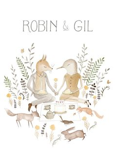 Front of a wedding invite for R&G