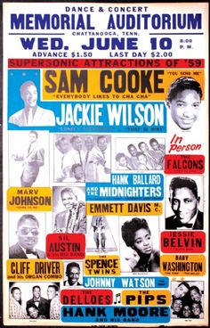 Original 1959 Jackie Wilson/Sam Cooke Boxing Style Concert Poster