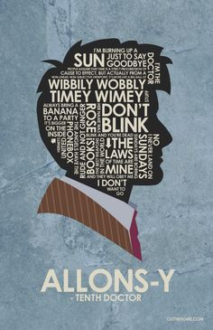 Dr. who Quote Poster 3 Set by OutNerdMe on Etsy