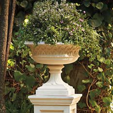 Outdoor Planters - Garden Urns - Outdoor Planter - Painted Planters