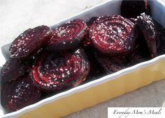 Easy Roasted Beets Recipe: What you need: 6 medium-sized beets, stems, leaves and roots removed Olive Oil Kosher Salt Pepper