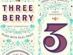 Three Berry Label