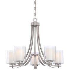 Minka Lavery Parsons Studio 5-Light Brushed Nickel Chandelier-4105-84 - The Home Depot