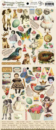 Crafty Secrets - Creative Scraps - Altered Fairies Scraps. $2.25, via Etsy.