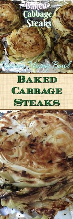 Baked Cabbage Steaks - Maria's Mixing Bowl