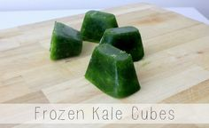 Frozen Kale Cubes - great for smoothies!