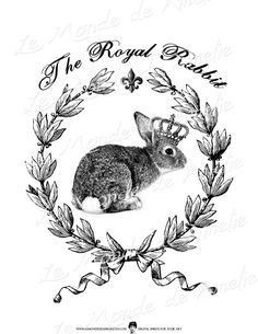 The Royal Rabbit farm animals nature large image by JLeeloo2, $1.00