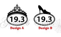 runDisney Inspired 13.1, 19.3, 22.4 Disney Glass Slipper Challange Vinyl Car Decal