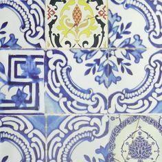 Christian Lacroix Carnets Andalous Patio Cobalt Wallpaper | Occa