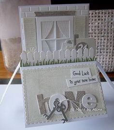 Made by Alina New Home Cards, House Of Cards, Tiddly Inks, Echo Park Paper, Exploding Boxes, Stamping Up, Homemade Cards, Paper Crafts, Card Crafts
