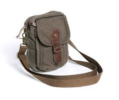 Canvas Bags Canvas Bags  Unisex Causal Canvas Genuine Leather Small Waist Bag