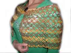 Hand Crochet Colorful Cloak & Shawl Mother day $38