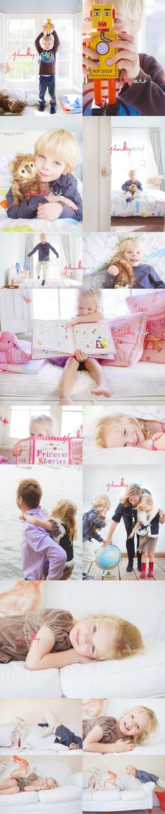 Child photography idea: Have the kids show off their favorite things!
