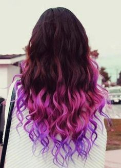 Purple & pink ombre hair
