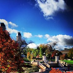 View of campus from Syracuse University's Schine Student Center - photo by @Kendall DmochFagan