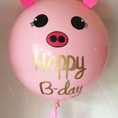 Cerdita #díseloconglobos . . . . #globosgigantes #bigballoons #globos #cerdita #pig #inglobspecials