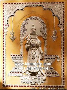 Tanjore Painting, Krishna Painting, Krishna Art, Indian Paintings, Nature Paintings, Advance Paint, Boarder Designs, Outline Drawings, Dream Art