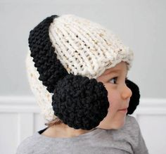 Headphones Baby Hat Pattern | This baby hat knitting pattern is both easy and good for a laugh.