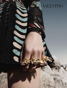 Los anillos y accesorios de la campaña Primavera/Verano 2014 de Valentino