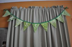 Kiss me pennant banner for St. Patrick's Day