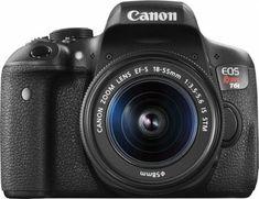 Canon - EOS Rebel T6i DSLR Camera with EF-S 18-55mm IS STM Lens - Black - Front_Zoom