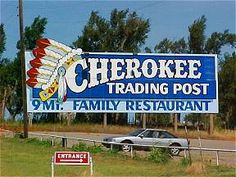 Cherokee Trading Post along Rt. 66 west out of Weatherford, OK