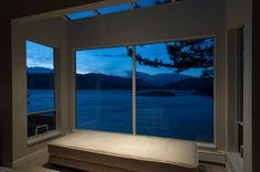 View of Bowen Island from a waterfront home in West Vancouver #blurrdMEDIA #architecture #photography