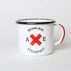 Best Made Company Seamless & Steadfast Enamel Steel Cups (Set of Two) $32 #bestmadeco #enamel #camp