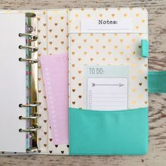 Heart of Gold 2ND EDITION A5 Planner in Aquamarine Shipping Now!