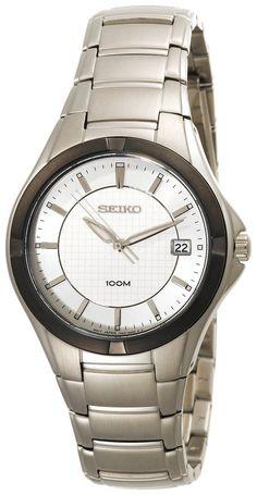 Seiko Men's SGED97 Dress Silver-Tone Watch