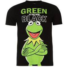 Muppets Kermit Green Is The New Black Officially Licensed Various Sizes T-Shirt Kermit, Green, Mens Tops, T Shirt, Shopping, Black, Fashion, Self, Women