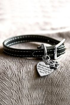 Hold a beloved pet's memory close long after they've passed with a touching bracelet. Made with an adjustable faux-leather strap, this bracelet is finished with a sentimental heart and a paw print charm.