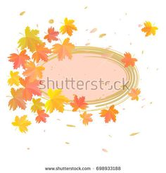 Maple leaves on white background. Place for text. Raster copy