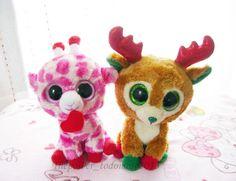 404e6fbf7a1 Ty Beanie Boos Retired Junglelove Giraffe   Alpine Reindeer 6