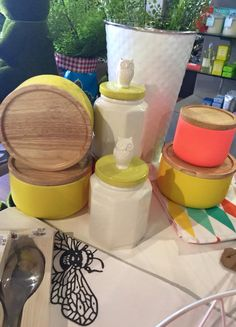 These funky canisters are now in store www.soswish.com.au. There is a colour for every room in the house!