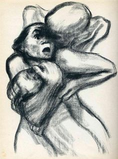 Death Seizing A Woman - Kathe Kollwitz -