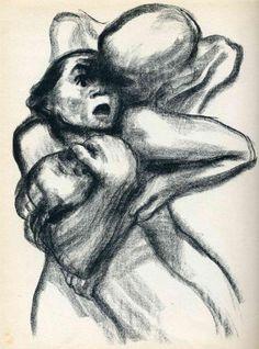 Death Seizing A Woman - Kathe Kollwitz -