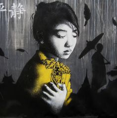 Street artists Ben Slow and Fin Dac collaborated on this gorgeous mural for the Cannt Festival in London