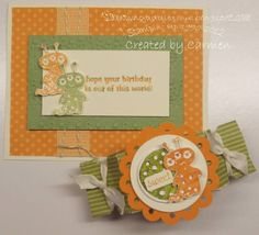 Blast Off Orange and Green by Carmen - Cards and Paper Crafts at Splitcoaststampers