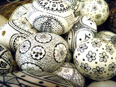 make these cute eggs for easter, crafts, easter decorations, seasonal holiday decor, 1 The first thing you do is hollow out some eggs Just put a small hole in both sides Insert a toothpick to scramble the egg some That will make it easier to blow out
