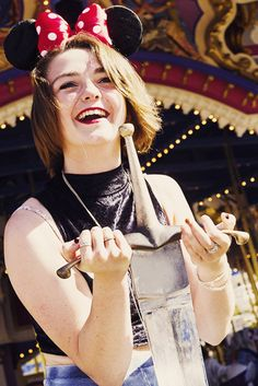 Maisie Williams at Disneyland