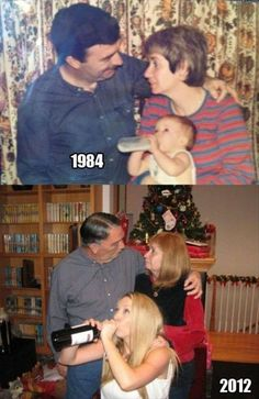15 Awesome 'Then and Now' Family Pictures