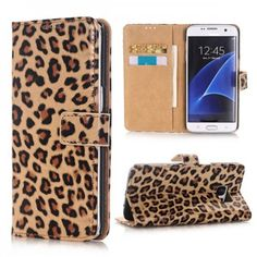 Leopard Print PU Leather Magnetic Flip Wallet Case for Samsung Galaxy S7 Edge G935