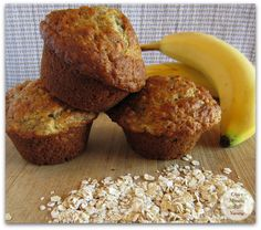 Recipe for tasty and tender Banana Oatmeal Muffins.