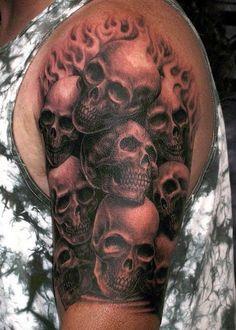 Skull Half Sleeve Tattoos For Women Best tattoo designs for effective ...