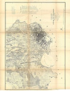 City of San Francisco And Its Vicinity, U.S. Coast Survey, 1859 by Eric Fischer, via Flickr