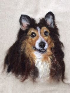 Rio, wool painting by Linda Wenger